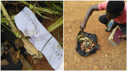 See the charm Anambra-based pastor claimed God revealed to him while praying in a bush (photos)
