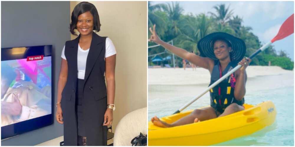 Actress Seilat Adebowale on honeymoon with her husband
