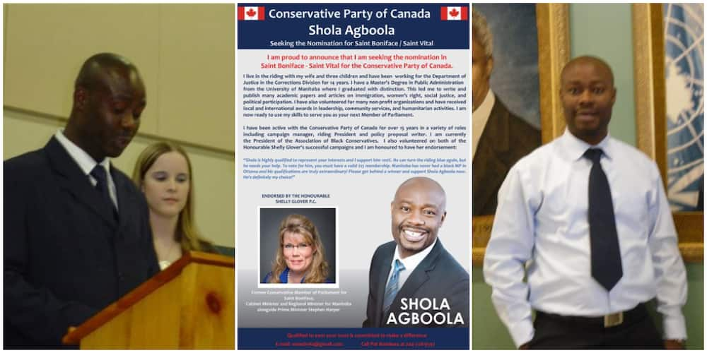Nigerian Man Runs for Political Office in Canada, Shares Poster as He Seeks Support, Social Media Reacts
