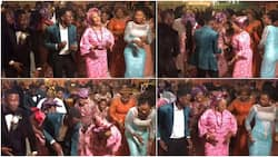 Groom's cute mum, wedding guests vibe to Burna Boy featured song Jerusalema, many react to their dancing moves