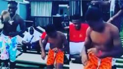 Nigerian music star Zlatan shouts 'this boy bad' as NFF president Pinnick's son beats him to Zanku dance