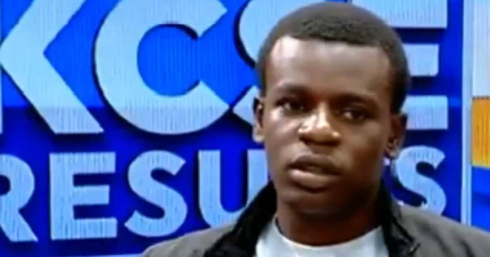 Allan Wasonga Udoma, the 2020 KCSE second best student. Photo: Screengrabs/Citizen.