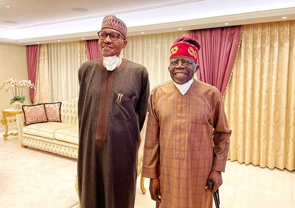 Buhari ya je har gida ya ziyarci Tinubu kafin ya baro Ingila