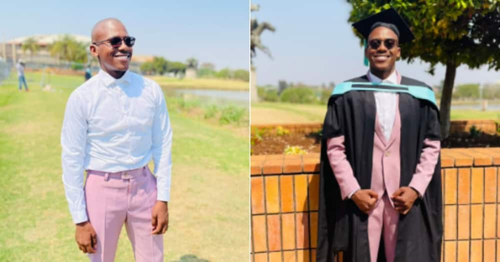Man, 3 degrees, celebrates, graduate, Twitter reactions