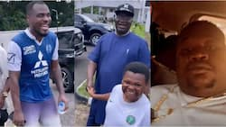 Cubana Chiefpriest and Nollywood star 'Pawpaw' stunned as they visit Emenike's stunning multi-million naira mansion