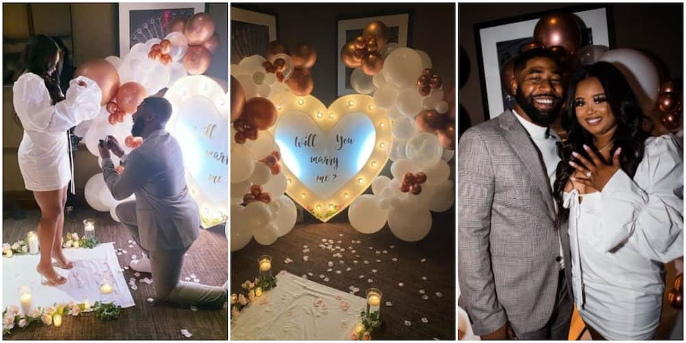 Love struck man proposes to girlfriend at romantic ceremony (photos, video)