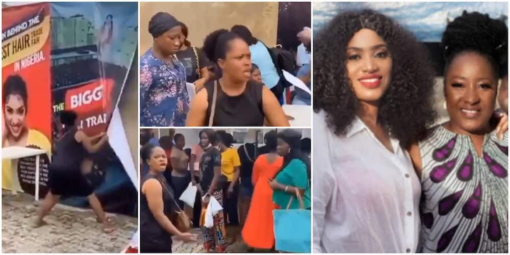 Actress Ireti Doyle's daughter and angry customer.