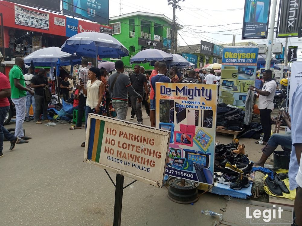 At computer village, Ikeja, reasonable prices of communication tools are sold. Photo credit: Esther Odili