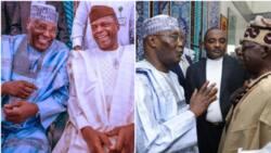Photos show how Ribadu reunited Atiku, Tinubu, Osinbajo, others