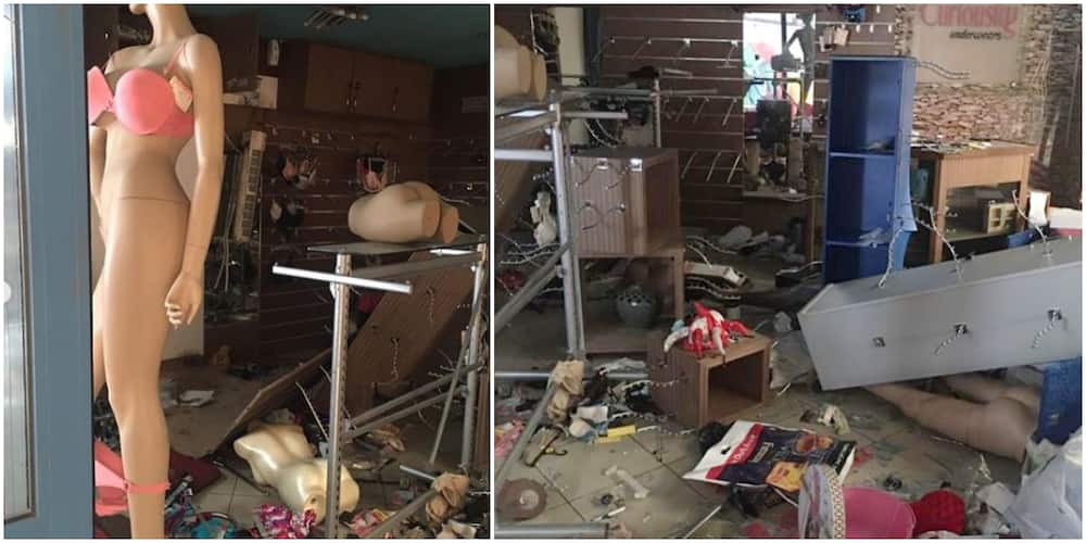 Actress Lilian Bach cries out after her store was looted in Surulere (photos, videos)