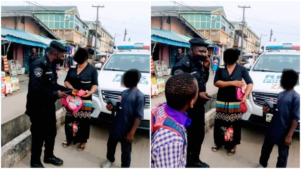 Police officers in Lagos return lady's purse containing N115,000 and smartphone