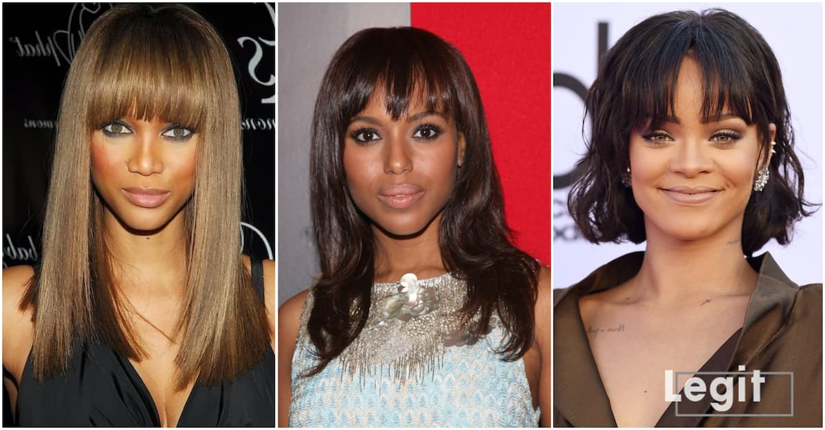 Center Part Hairstyles With Bangs Legit