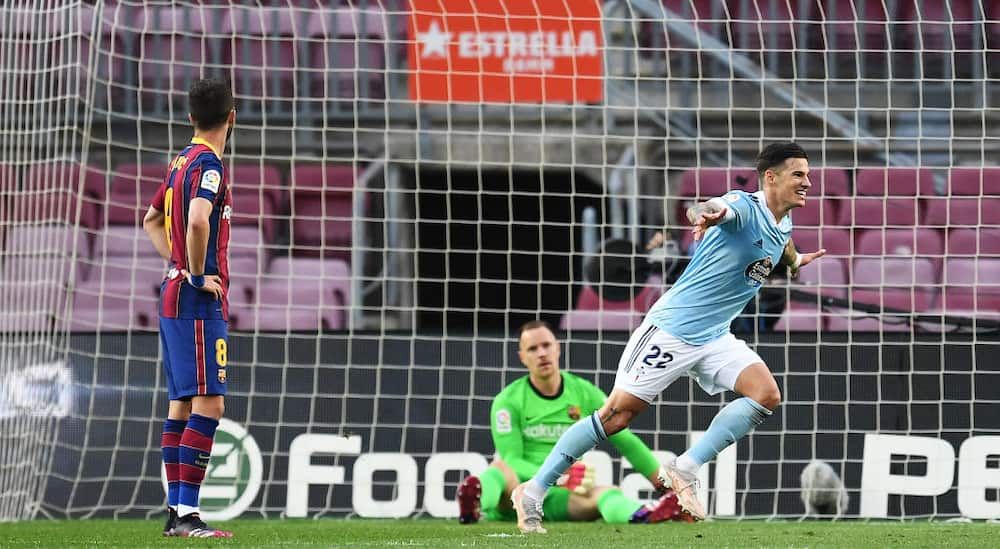 Barcelona drop out of La Liga title race for 2nd straight season after defeat to Celta Vigo at Camp Nou