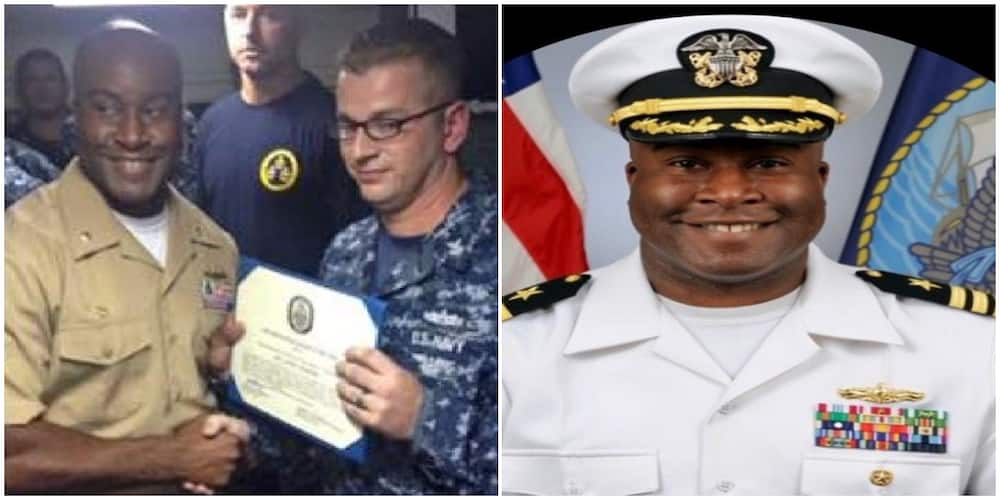 Wow! This Man Becomes the First Nigerian to Take Command of a US Navy Guided Missile Destroyer