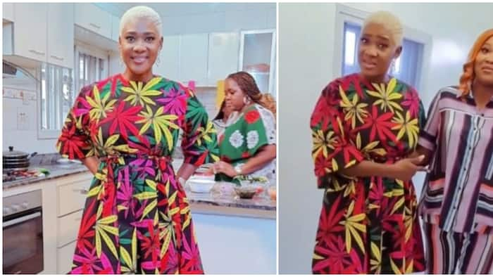 Mercy Johnson goes blond, shows off new hairdo as she spends time with Mary Njoku