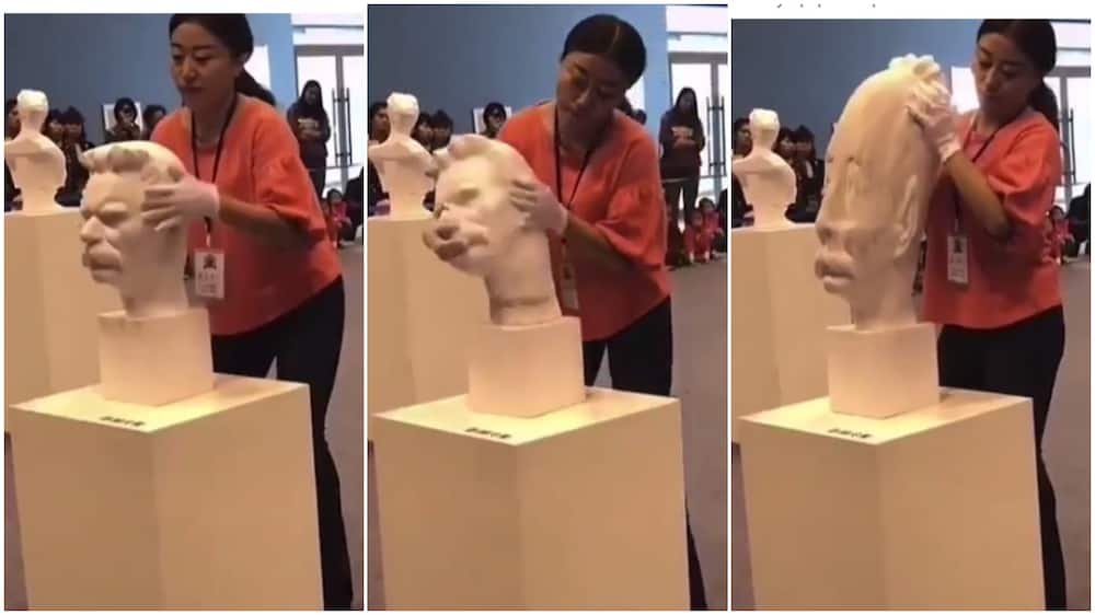Sculpture that can be pulled into any shape breaks the internet, wows people
