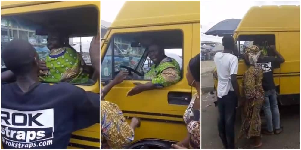 Elderly woman hijacks commercial bus from driver after he refused to give her and other passengers their change, many react