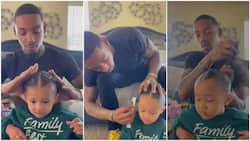 Heartwarming video captures cute moment father makes his daughter's hair with great skill, many praise him