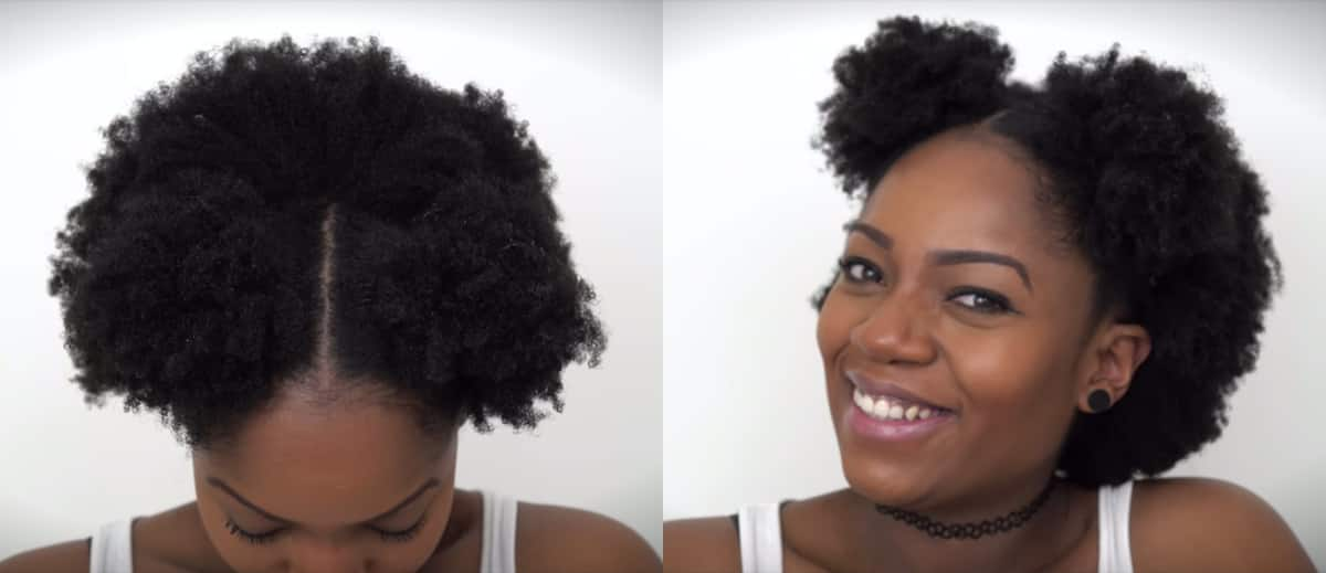 Hairstyles for short natural hair at home