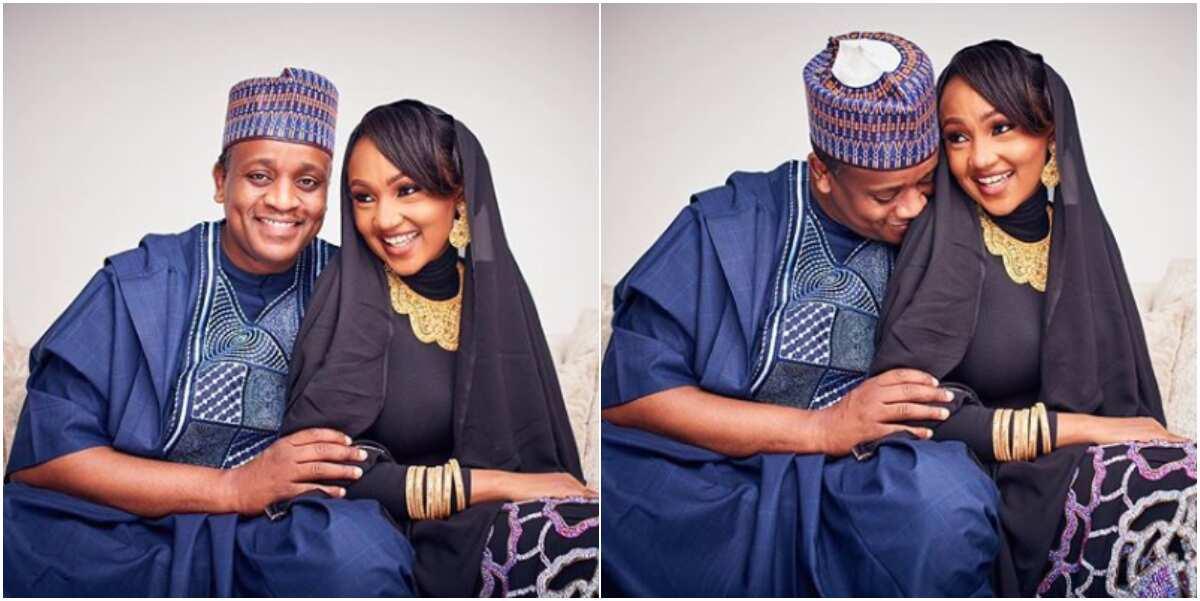 Zahra Buhari and husband Ahmed Indimi celebrate 2nd wedding anniversary with new love up photos - Legit.ng