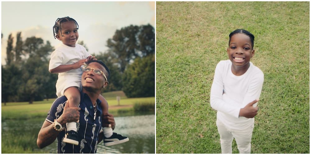 Wizkid's first son Tife and lastborn Zion meet up in Ghana (video)