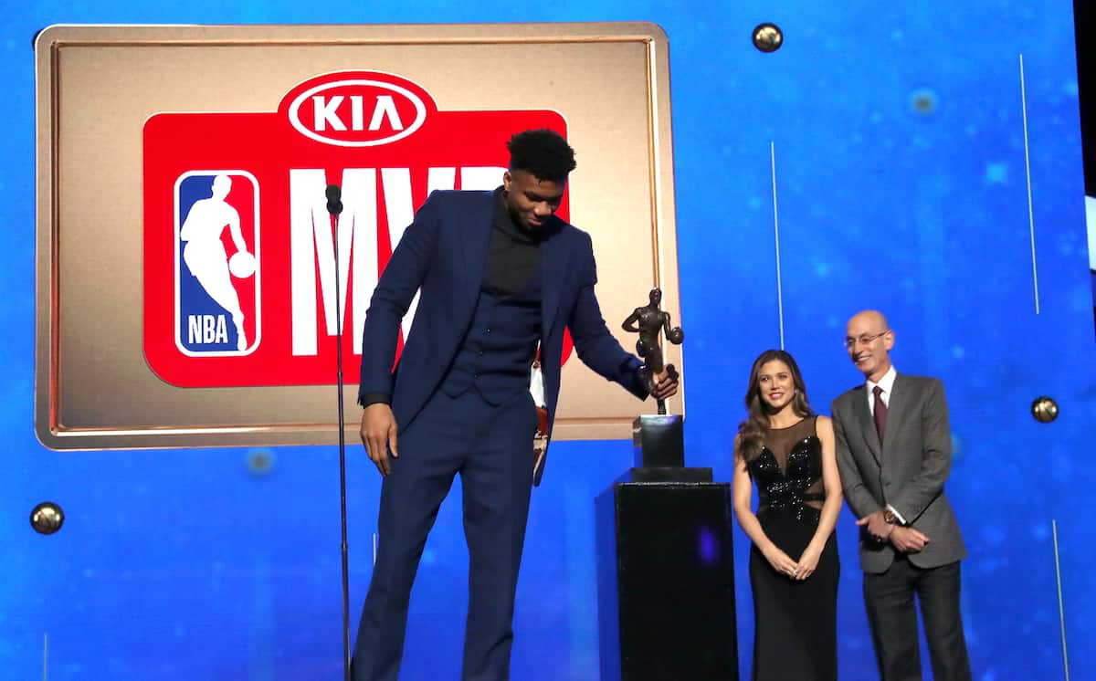 Giannis Antetokounmpo, 24, named NBA's most valuable player for 2018/19 season