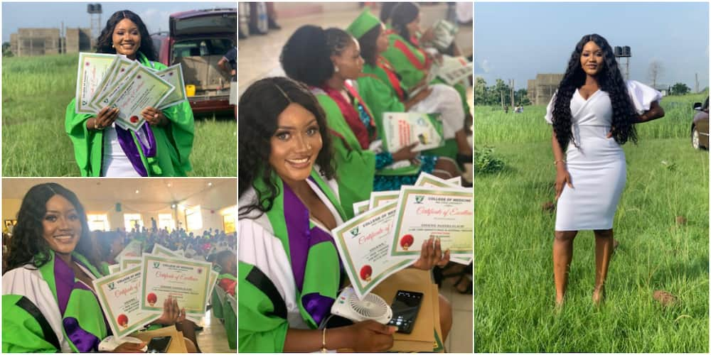 """Gorgeous Female Doctor Bags 7 Awards as She Graduates with Distinction, """"Scatters"""" Everywhere with Cute Photos"""