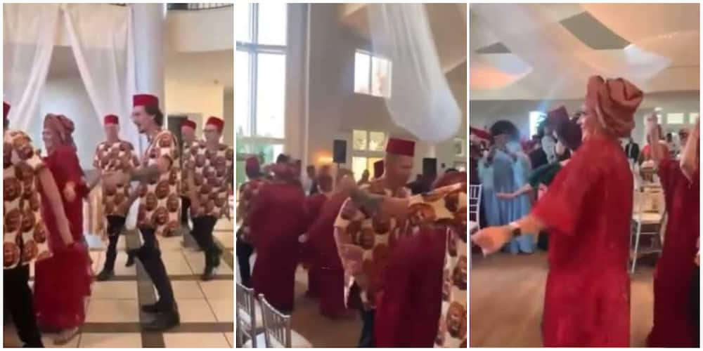 Hilarious video captures Oyinbo people in native vibing to Flavour's song at event