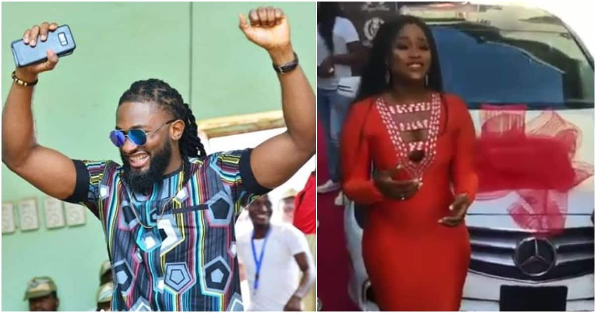 After signing business deal BBNaija CeeC gets brand new Mercedes Benz gift, Uti reacts