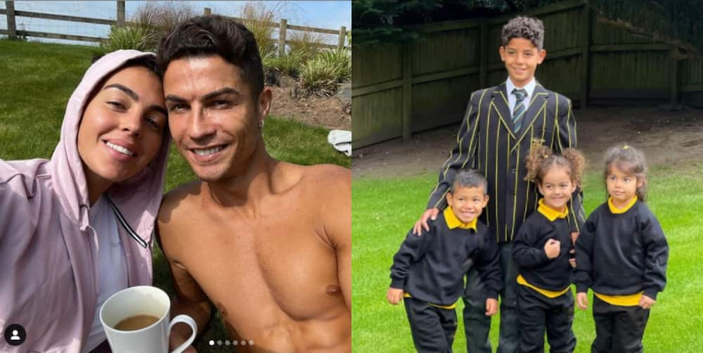 Cristiano Ronaldo's lover Georgina posts amazing picture of their children's first day at school