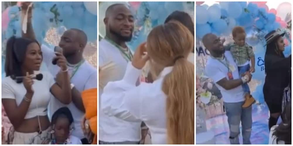 Nigerians React to Trending Video of Davido Fanning Baby Mama Sophia at Imade's Party