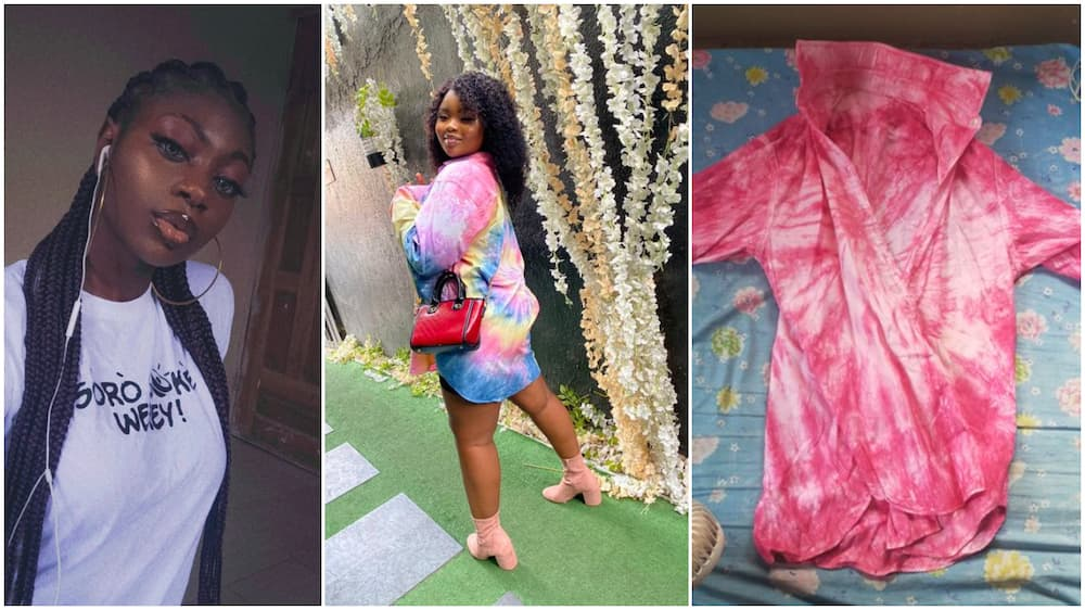 Nigerian lady laments after her online shopping goes wrong, gets unfitting outfit
