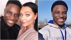 Merry Christmas from me and mine - BBNaija Bassey says as he shares photo of himself and his wife