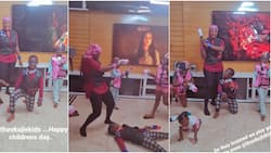 This family sweet me die: Reactions as Mercy Johnson and kids engage in gun battle for Children's Day