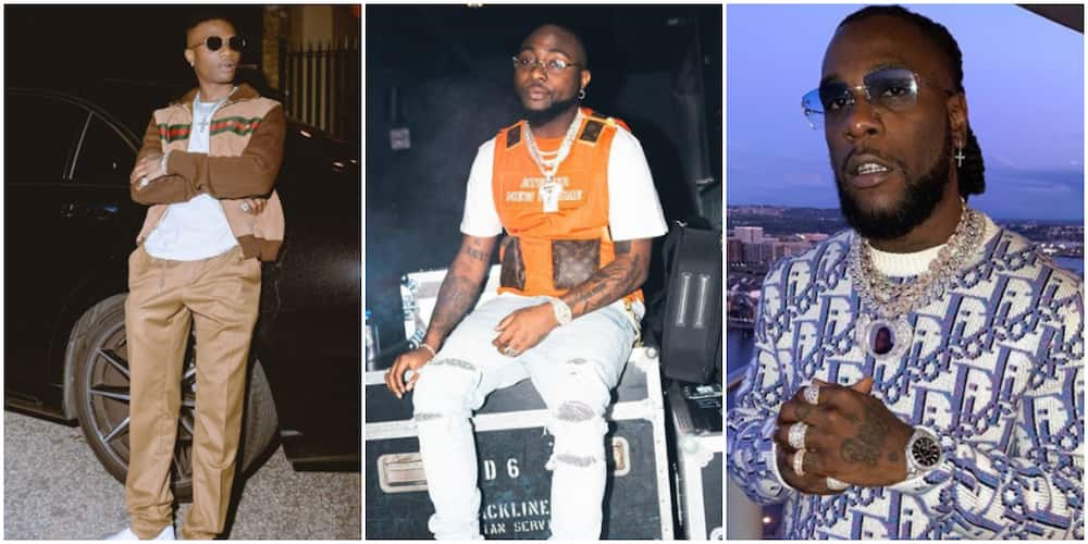 Wizkid looks away as Davido and Burna boy get into a fight at a club in Ghana (video)