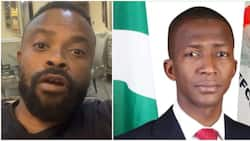 Actor Okon reacts as EFCC boss slumps, tells Yahoo boys who took his picture to 'babalawo' to let him go