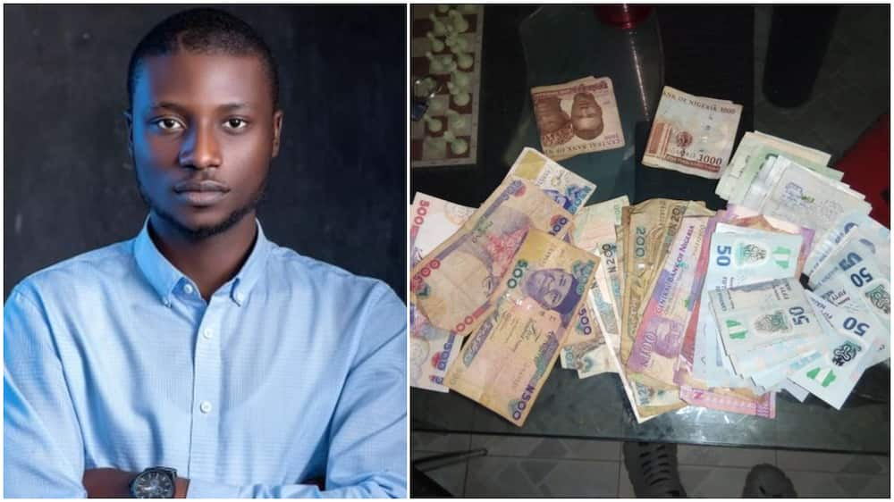 Nigerian lawyer makes N10k as taxi driver, shares photo of money