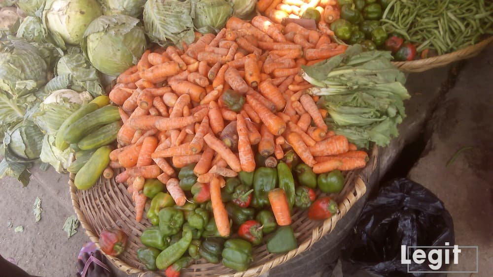 Carrot sellers at the market decry fluctuation in the cost price of carrot lately. Photo credit: Esther Odili
