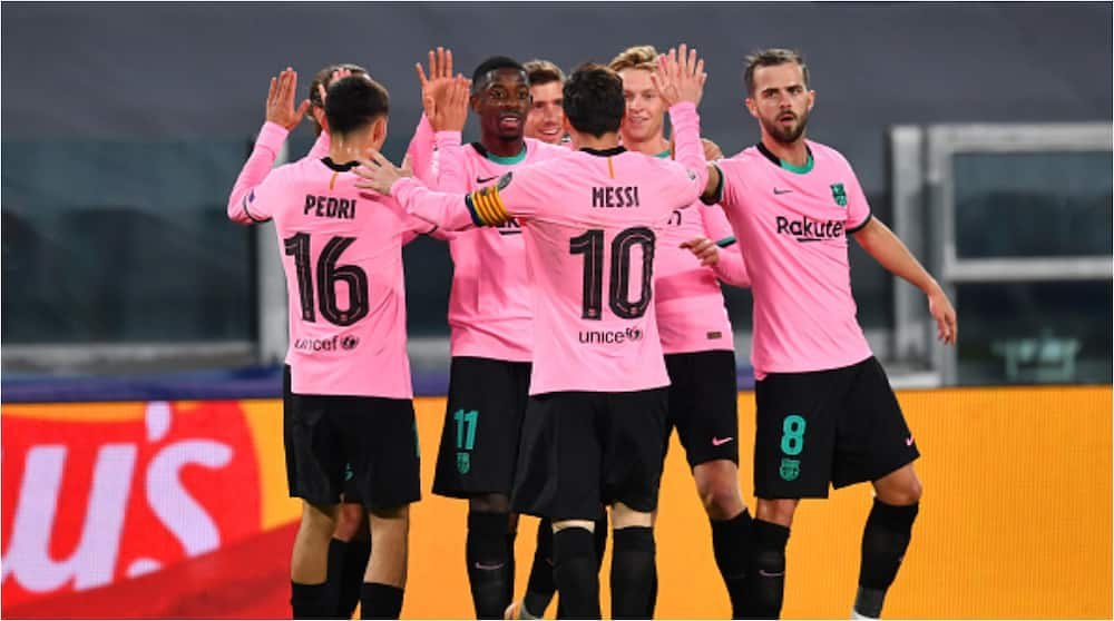 Juventus vs Barcelona: Dembele, Messi score as Catalan giants win away from home