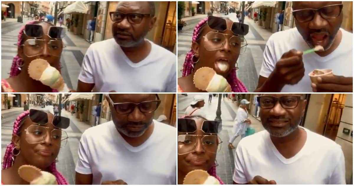 God when? - Nigerians say as Otedola's family visits Italy for an hour to buy ice-cream