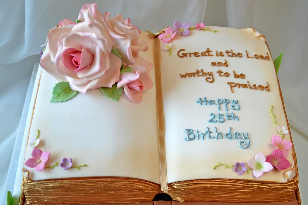 Groovy Open Bible Cake Design Ideas Legit Ng Personalised Birthday Cards Paralily Jamesorg