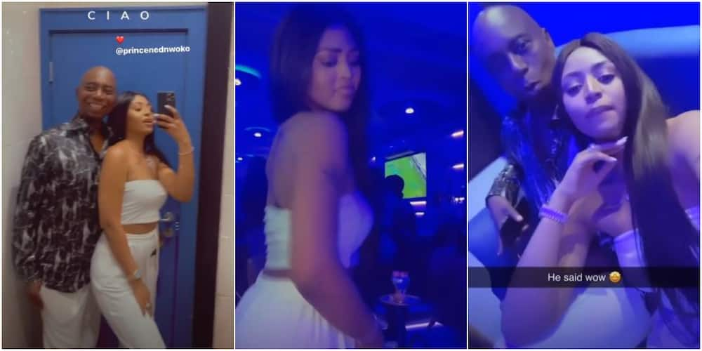Regina Daniels and husband Ned Nwoko all loved up as they go clubbing (video)