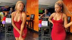 Reactions as man is caught eyeing lady while his lover was feeding him (see photos)
