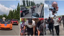 Abuja fans give Cross presidential treatment, as power bikes, cars and huge crowd gather to welcome him