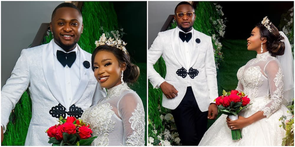 Ubi Franklin and his lovely bride