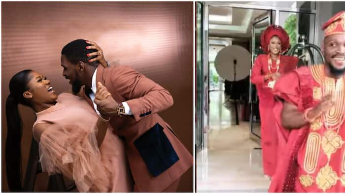 I was nervous: BBNaija Tobi Bakre shares beautiful moment he turned back to see his wife at their wedding