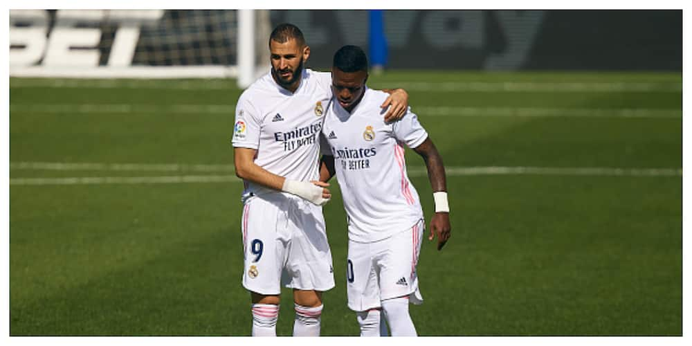 Zinedine Zidane plays down row between Real Madrid team-mates Benzema and Vinicius