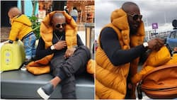 Nollywood actor Jim Iyke bonds with son in Paris, shares cute photos and videos