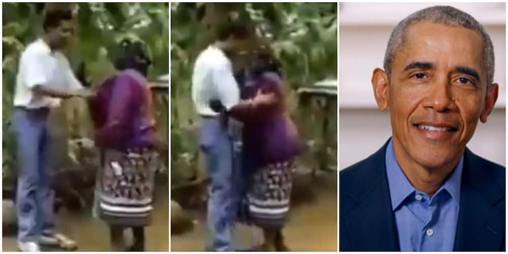 33-Year-Old Video of Young Barack Obama Gifting His Grandmother a Dress Goes Viral, Melts Hearts