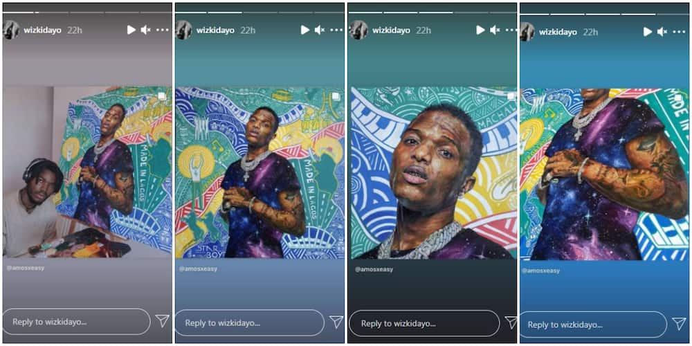 Wizkid Gushes Over Impressive Portrait of Him Made by Talented Nigerian Artist
